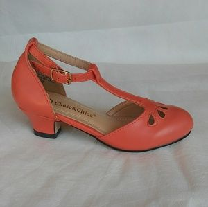 Girls CORAL color Dress Shoes